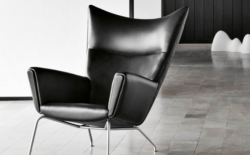 sessel ch445 wingchair carl hansen son marcus hansen m nchen. Black Bedroom Furniture Sets. Home Design Ideas