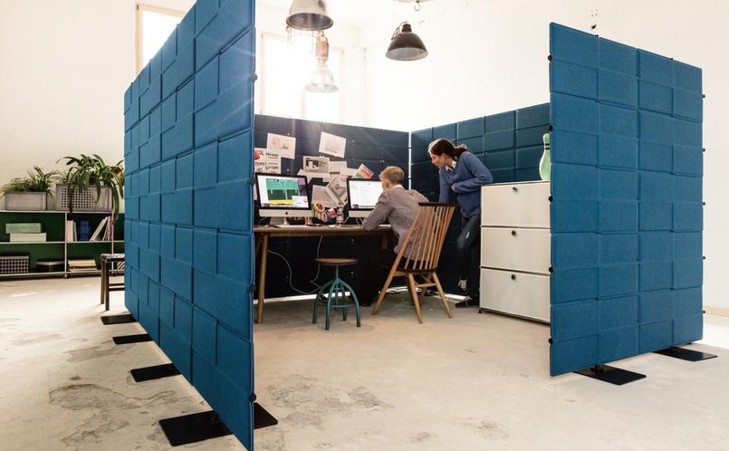 raumteiler usm privacy panels usm haller marcus hansen m nchen. Black Bedroom Furniture Sets. Home Design Ideas