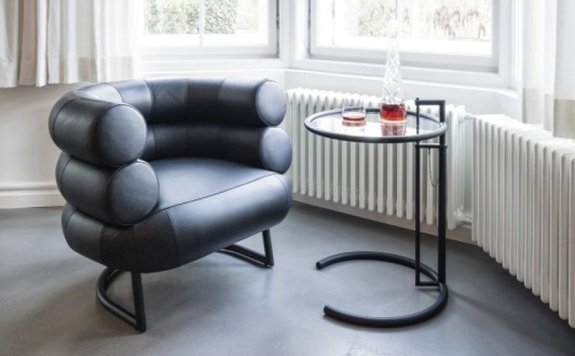 beistelltisch classicon adjustable table e 1027 schwarz